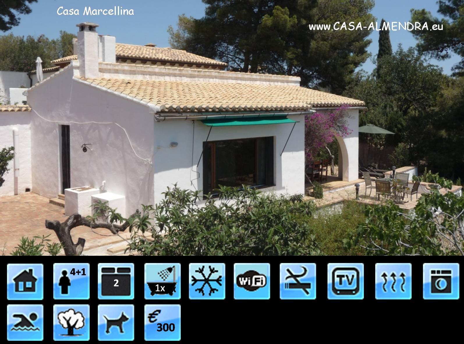 Verhuurwoning Casa Marcellina, Casa Almendra, Calpe, Costa Blanca, Spanje